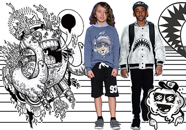 2018 A/W Pattern for Boys' Wear -- Monochrome Fantasy
