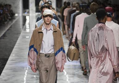 2018 S/S Men's Leather & Fur on Catwalks -- Silhouette & Pattern