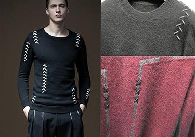 17/18 A/W Men's Knitwear in Puyuan Wholesale Market -- Brand Influence