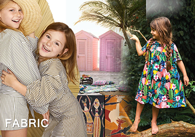 2019 S/S Striped and Printed Fabric for Kidswear -- Global Traveler: Playful Cotton