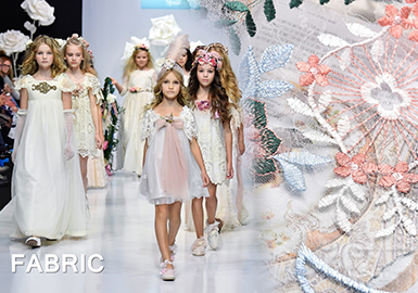 2018 S/S Lace Fabric on Kids' Catwalk -- Fairytale Lace