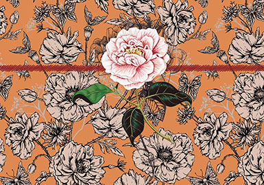2019 S/S Pattern for Womenswear -- Sketchy Flower