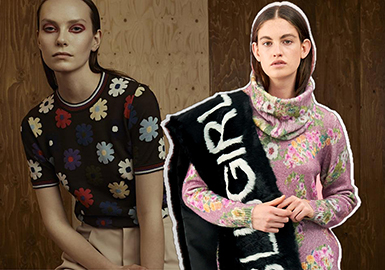 2019 S/S Patterns Trend for Women's Knitwear -- Flourishing Flowers