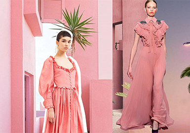 2019 S/S Color of Women's Formal Dress -- Pink