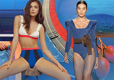 2020 S/S Color for Women's Swimwear -- Blue