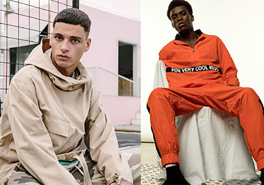 2019 S/S Menswear Silhouette -- Sporty Hooded Jacket