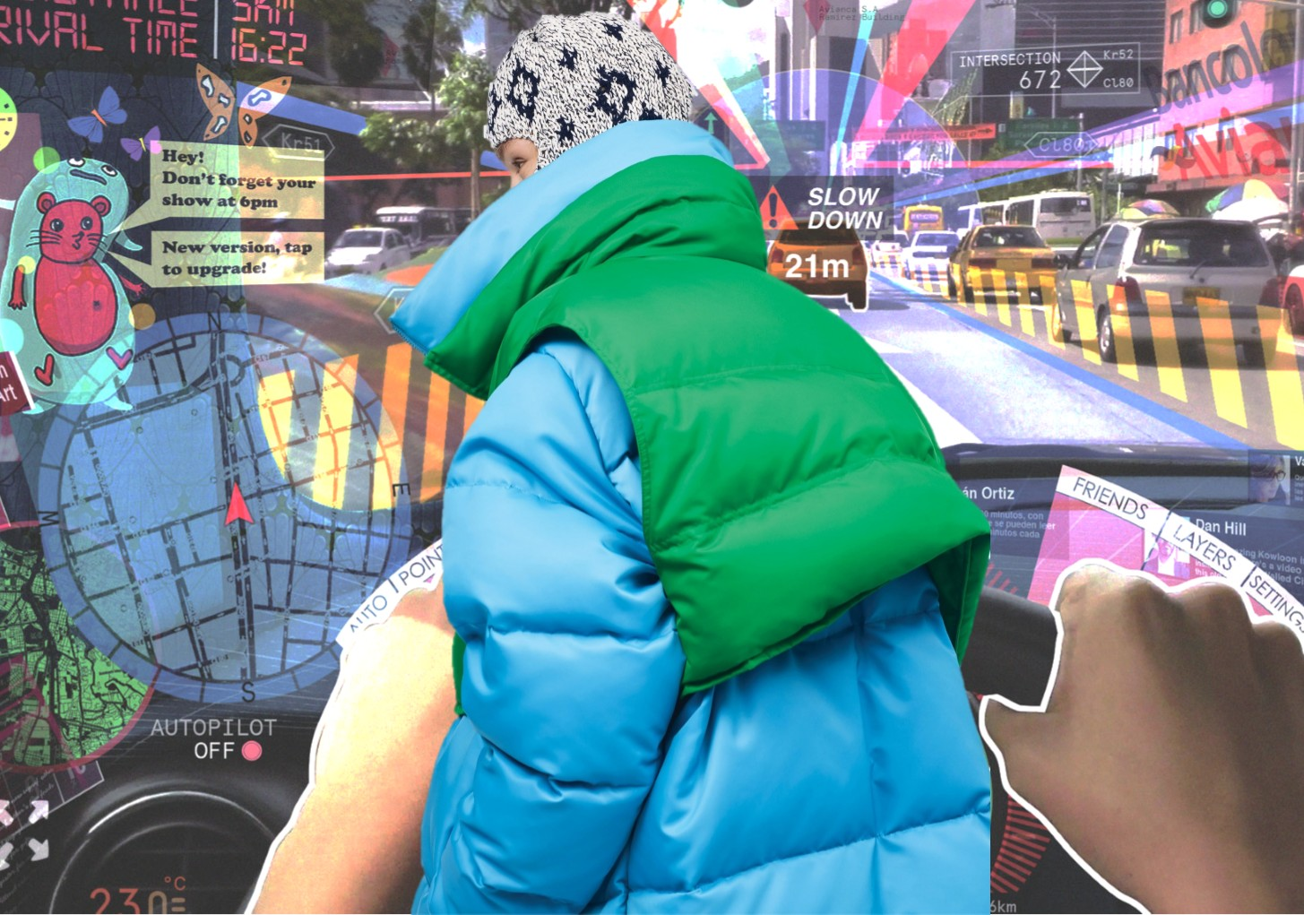 19/20 A/W Women's Down Jacket Fabric -- Color Play