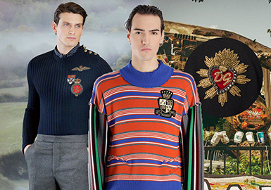 19/20 A/W Pattern & Craft for Men's Knitwear -- Badge
