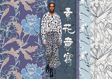 19/20 A/W Pattern for Womenswear -- Plain Flower
