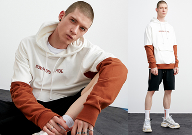 19/20 A/W Cutting Trend for Menswear -- Paneled Sweatshirt
