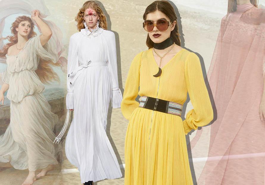 Elegant Dress -- 2019 S/S Silhouette Trend of Women's Dress