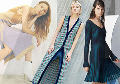 Flowing Knitted Dress -- 2020 S/S Women's Clothing Collocation