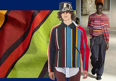 Striking Stripe -- 2019 S/S Analysis of Men's Shirt Fabric On Catwalk