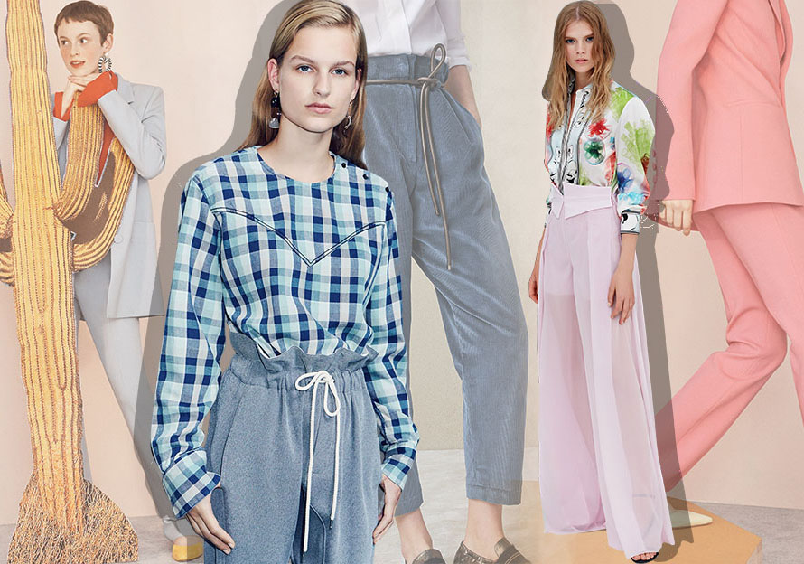 Stylish Trousers -- 2020 S/S Silhouette Trend for Womenswear
