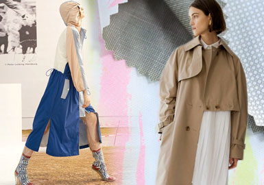 Renewed Trench Coat -- 2020 S/S Fabric Trend for Women's Outerwear