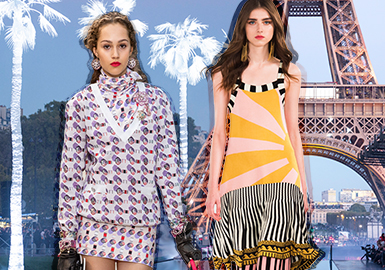 Resort Style -- 2019 S/S Women's Knitwear on Catwalk