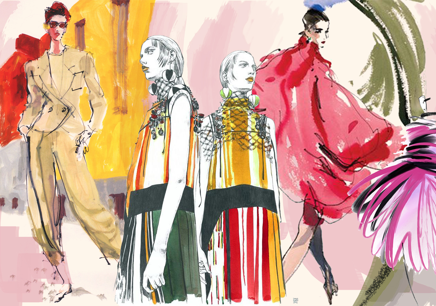 Sketch for Fashion Clothes -- 2020 S/S Pattern Trend for Womenswear