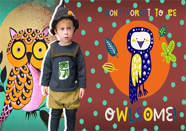 Owl -- 19/20 A/W Pattern Trend for Kidswear