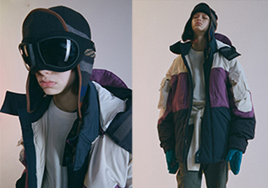 Soft Functional Puffa -- 19/20 A/W Silhouette Trend for Menswear