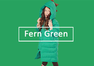 Fern Green -- 19/20 A/W Color Evolution of Girls' Apparel