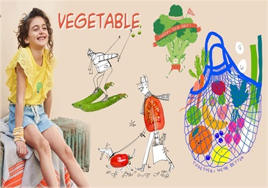Vegetable -- 2020 S/S Pattern Trend for Kidswear