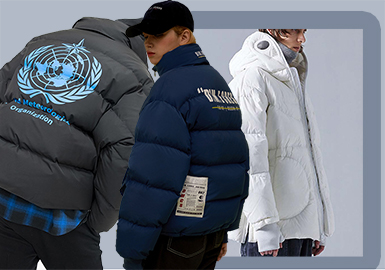 Voluminous Puffer Jacket -- 19/20 A/W Silhouette Trend for Menswear