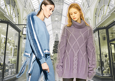 Soft Mid-tones -- 18/19 A/W Women's Knitwear in Tongxiang Market