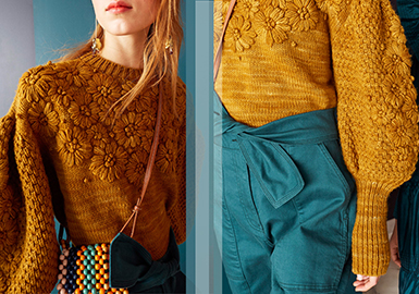 Handmade Decoration -- Pre-Fall 2020 Technique Trend for Women's Knitwear