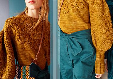 Handmade Decoration -- Pre-Fall 2020 Technique Trend for Women's Knitwear