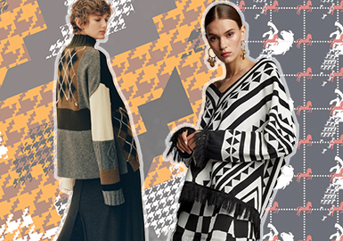 Refreshed Check -- Pre-Fall 2020 Pattern Trend for Women's Knitwear