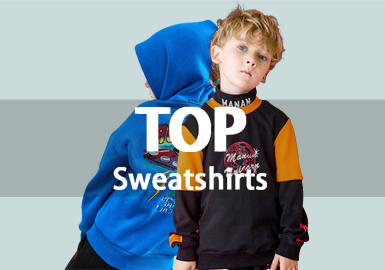 Sweatshirt -- 18/19 A/W Boys' Hot Item in Market