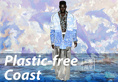 Plastic-free Coast -- 2020 S/S Pattern Trend for Menswear