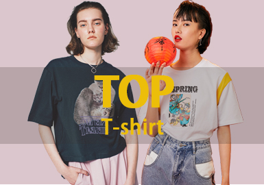 T-shirt -- 2019 S/S Women's Hot Item in Market