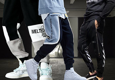 Stylish Cuffed Sweatpants -- 20/21 A/W Silhouette Trend for Menswear