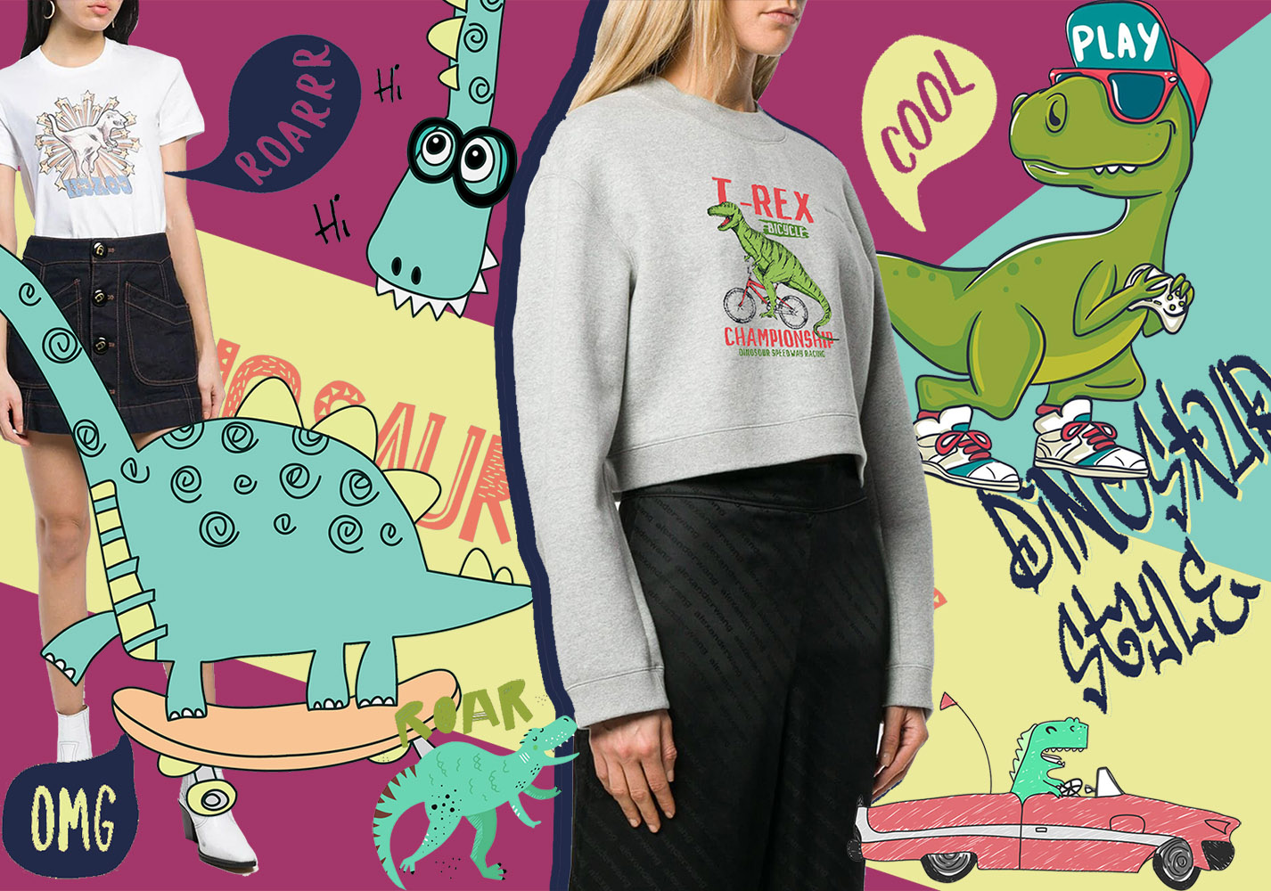 Changeable Dinosaurs -- 2020 Pre-Fall Pattern Trend for Womenswear