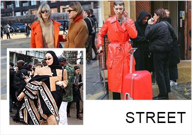 Multiple Styles -- 19/20 A/W Analysis of Street Snap In London Fashion Week