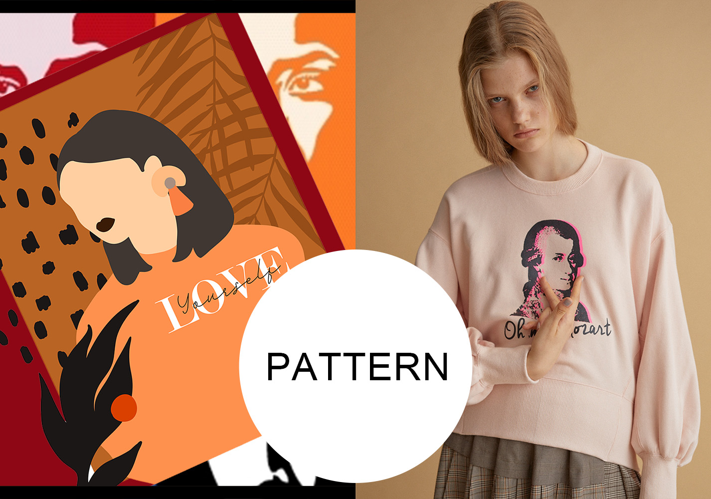 Sketchy portraits -- 20/21 A/W Pattern Trend for Women's Wear