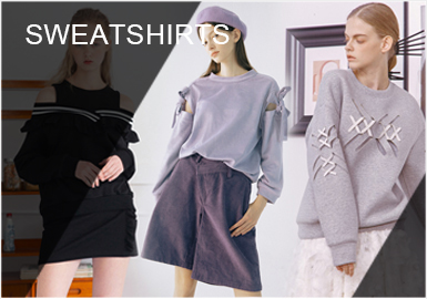 Renewed Sweatshirts --Analysis of  S/S 2019 Women's Sweatshirts with Designer Brands