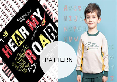 Relaxed Letters -- A/W 20/21 Pattern Trend for Kidswear
