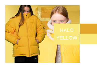 Halo Yellow -- A/W 20/21 Color Evolvement Trend for Women's Puffer Coats