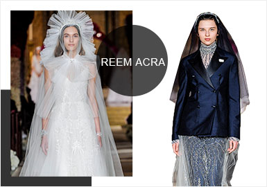 Reem Acra -- Analysis of S/S 2020 Wedding Dress Brands on Catwalks