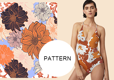 Romantic Vacation -- S/S 2020 Pattern Trend for Women's Swimwear