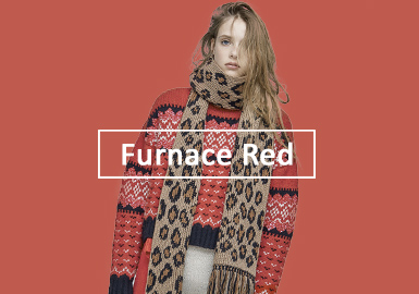 Furnace Red -- A/W 20/21 Color Trend for Women's Knitwear