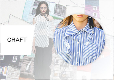 Creative Cut -- S/S 2020 Craft Trend for Women's Shirts