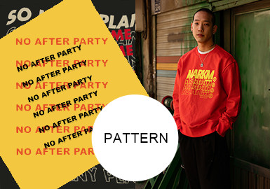 Overlaid Letters -- A/W 20/21 Pattern Trend for Menswear