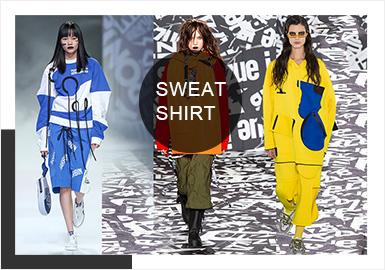 Colorful Sweatshirts -- Comprehensive of A/W 19/20 Catwalks for Sweatshirts