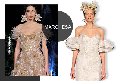 Wedding Dresses -- Analysis of the Catwalk of Marchesa's Wedding Dresses