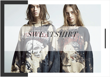 Practical and Innovative Sweatshirts -- Comprehensive Analysis of Womenswear Trunk Show