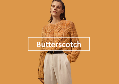 Butterscotch -- Solid Color Trend for Women's Knitwear