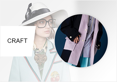 Breaking-Style Unit Piecing -- Craft Trend of Women's Coats